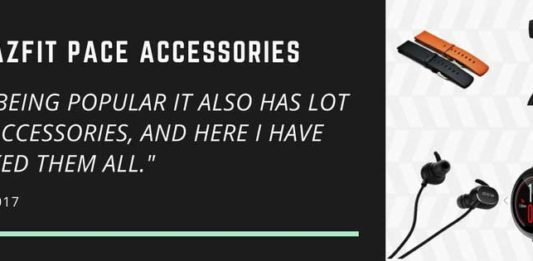 Amazfit Pace all accessories at one place