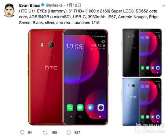 HTC U11 Eyes Design, Configuration and Features